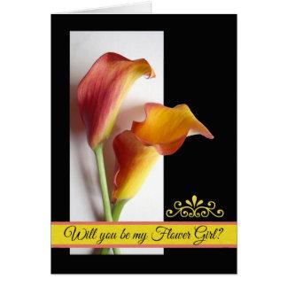 Cartão O pedido do florista, manga coloriu lírios de