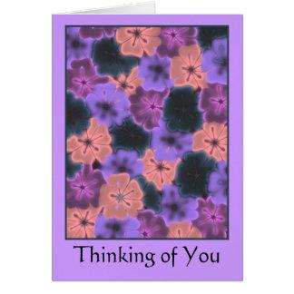 Cartão O pensamento de você carda