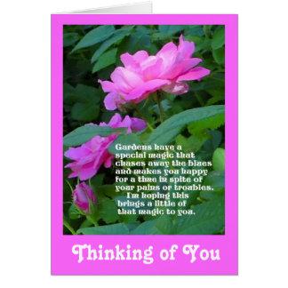 Cartão O pensamento mágico do jardim de você carda