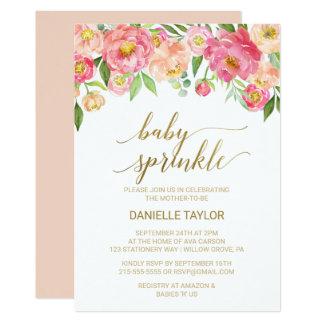 Cartão O pêssego e o bebê cor-de-rosa das flores da