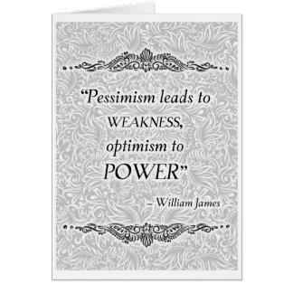 Cartão O pessimismo conduz à fraqueza - Quote´s positivo