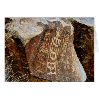 Cartão O Petroglyph da passagem da árvore de Natal de