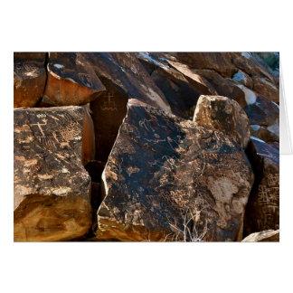 Cartão O Petroglyph da passagem da árvore de Nevada