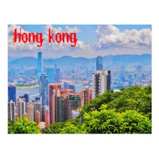 Cartão - o pico de Victoria em Hong Kong
