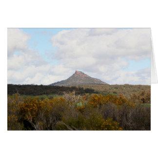 Cartão O pico do diabo, perto de Quorn, interior