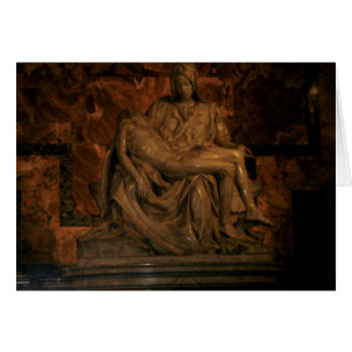 Cartão O Pieta por Michelangelo