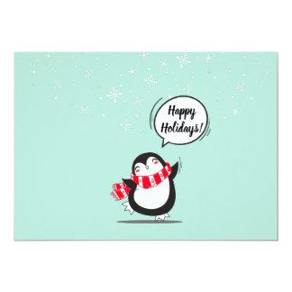 Cartão O pinguim bonito