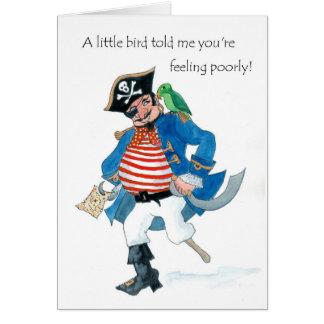 Cartão O pirata e o papagaio do divertimento obtêm bem no