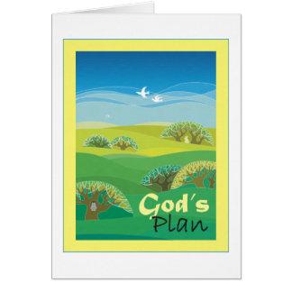 Cartão O plano do deus