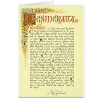 Cartão O poema dos Desiderata por Ehrmann máximo