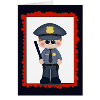 Cartão O polícia do trabalho do divertimento adiciona o