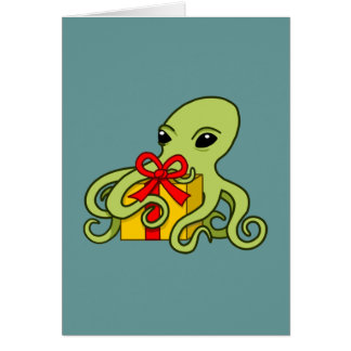 Cartão O polvo de doação