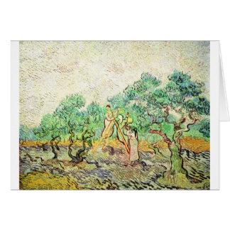 Cartão O pomar verde-oliva - Vincent van Gogh (1889)