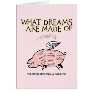 Cartão O porco do vôo Corte-Que sonha é feito de