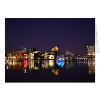 Cartão O porto interno de Baltimore