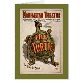 Cartão O poster adiantado 1898 de Broadway do ~ da