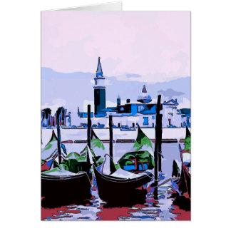 Cartão O poster de viagens de Veneza, adiciona o texto
