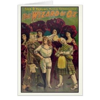 Cartão O poster vintage musical 1903 de mágico de Oz