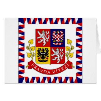 Cartão O presidente Bandeira da república checa