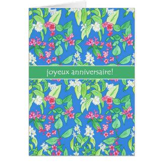 Cartão O primavera bonito floresce aniversário da língua