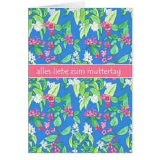Cartão O primavera bonito floresce dia das mães alemão