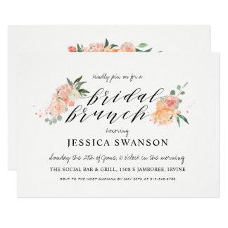 Cartão O primavera cora refeição matinal nupcial floral