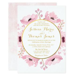 Cartão O primavera pica a coleção floral do casamento da