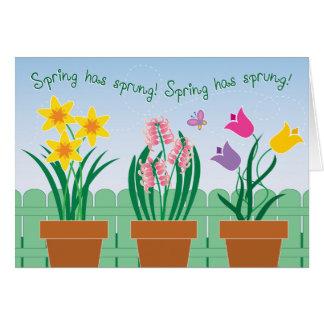 Cartão O primavera saltou!