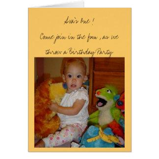 Cartão O primeiro aniversario de Ava
