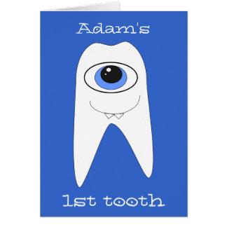 Cartão O primeiro dente do bebê