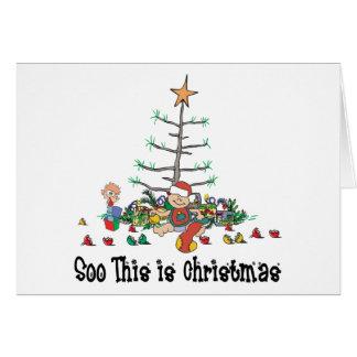 Cartão O primeiro Natal do bebê