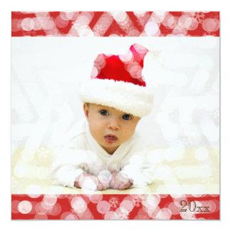 Cartão O primeiro Natal do bebê com foto