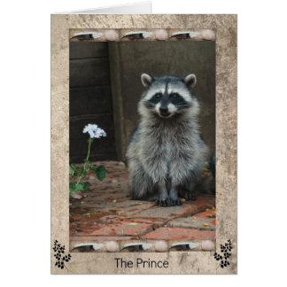 Cartão O príncipe do guaxinim