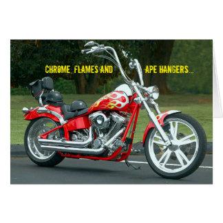 Cartão O prurido V-gêmeo da estrada de Harley do