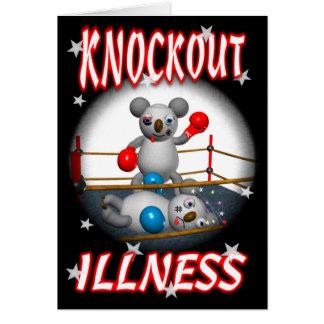 Cartão O pugilista do Koala dos desenhos animados obtem o