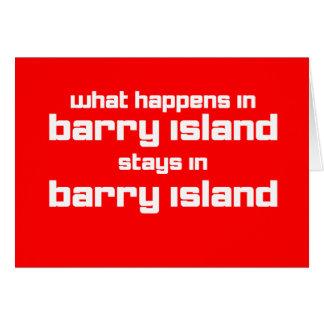Cartão O que acontece em Barry