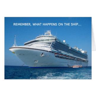 Cartão O que acontece em estadas do navio de cruzeiros no