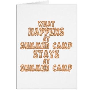 Cartão O que acontece no acampamento de Verão
