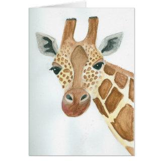 Cartão O que é acima do girafa