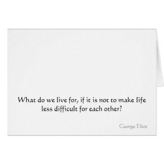 Cartão O que fazem nós vivemos para, se não é fazer a