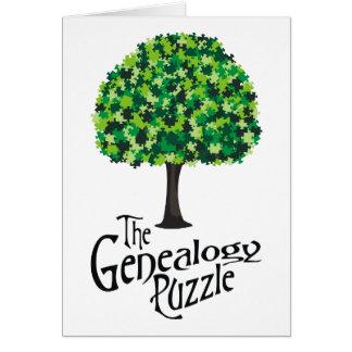 Cartão O quebra-cabeça da árvore genealógica