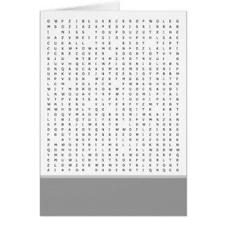 Cartão O quebra-cabeça da busca da palavra ocasiona o