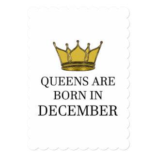 Cartão O Queens é nascido em dezembro
