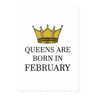 Cartão O Queens é nascido em fevereiro