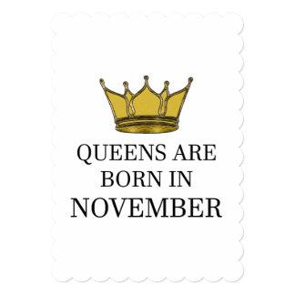Cartão O Queens é nascido em novembro