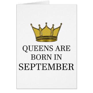 Cartão O Queens é nascido em setembro