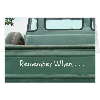 Cartão o recolhimento Truck2 #1- do vintage personaliza