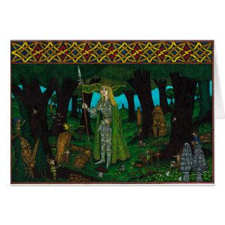 Cartão O rei do visco, lança do visco (duende)