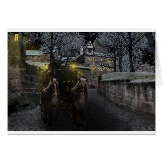 Cartão O renascimento medieval Knights o castelo velho