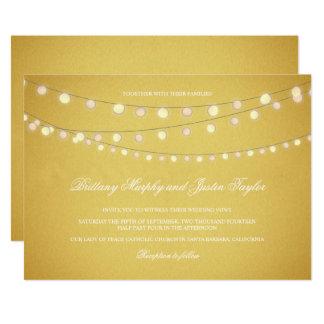 Cartão O restaurante ilumina o ouro que nivela o